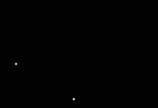 Stjernebilledet Svanen, som det tager sig ud et sted med kraftig lysforurening, dvs. et sted, hvor man kan se stjerner ned til magnitude 1.
