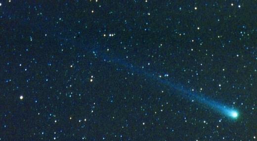 Komet Hyakutake, som i 1996 kunne ses på stjernehimlen fra steder uden for meget lysforurening. Fot.: P.T.Aldrich.