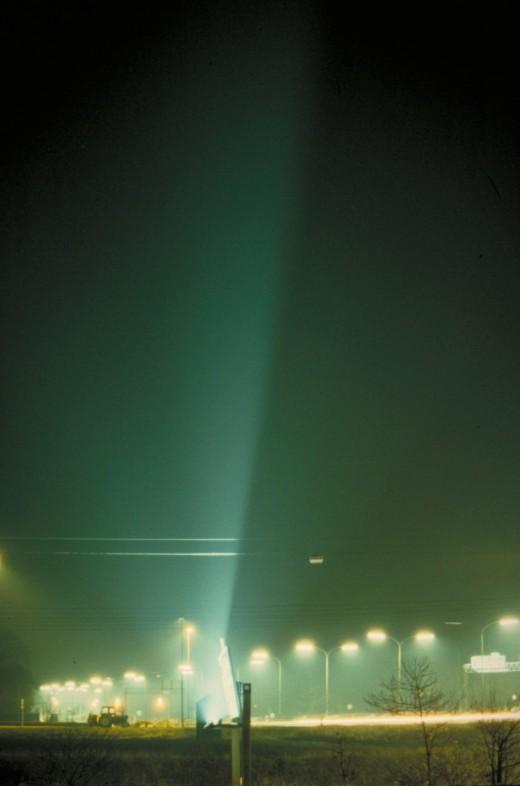 Vejskiltebelysning på en motorvej. Fot.: P.T.Aldrich.