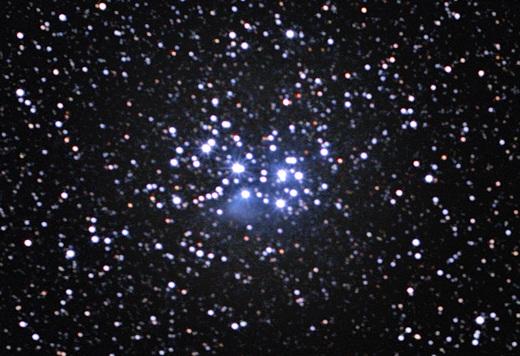 Den åbne stjernehob Plejaderne - også kendt som Syvstjernen. Fot.: ESO/S. Brunier.