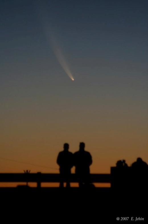 Komet McNaught, som kunne ses på himlen i 2007. Fot.: ESO.